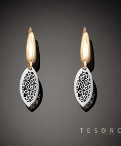 Tesoro Yellow & White Gold Dangle Earrings