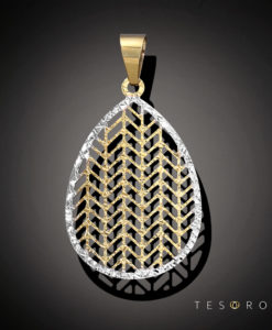 Tesoro Yellow & White Gold Pendant