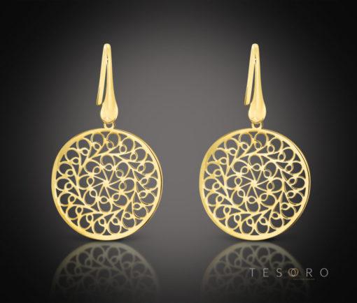 Raddusa Tesoro Silver Dangle Earrings