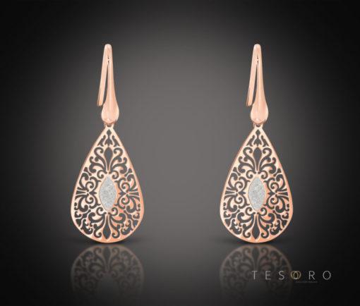 Tesoro Radico Silver Dangle Earrings