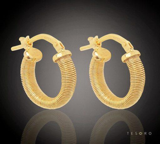 NORMA GOLD HOOP EARRINGS