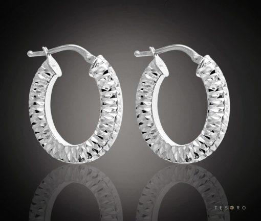 Modena Gold Hoop Earrings