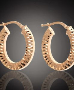 MARSALA GOLD HOOP EARRINGS