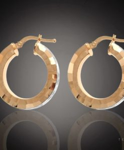 CESENA GOLD HOOP EARRINGS
