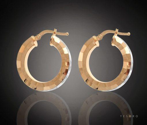 CESENA GOLD HOOP EARRINGS
