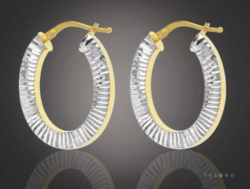 Cuneo Gold Hoop Earrings