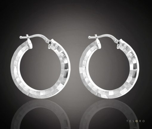 COSENZA GOLD HOOP EARRINGS