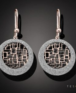 CHIETI SILVER DANGLE EARRINGS