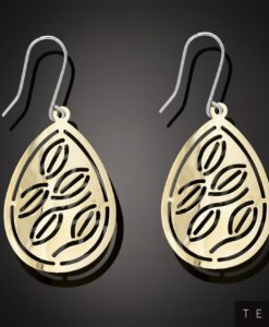 LAZIO GOLD DANGLE EARRINGS