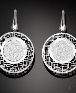 PORTICI SILVER DANGLE EARRINGS