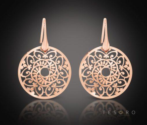 Rabbi Silver Dangle Earrings