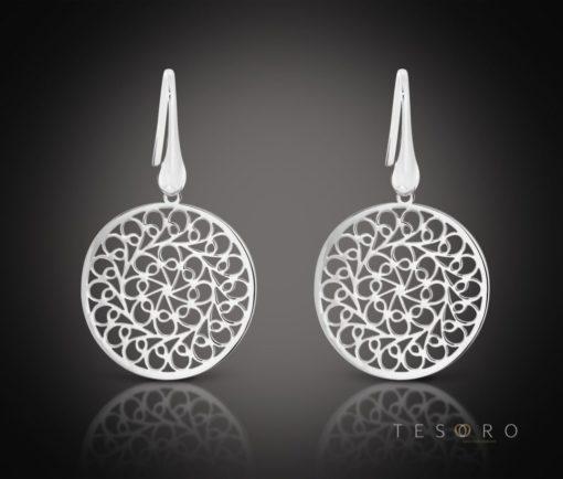 Raddusa Silver Dangle Earrings