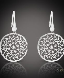 Raddusa Silver Dangle Earrings