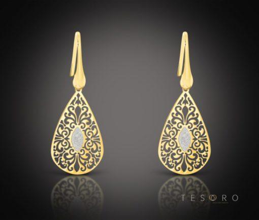 Radico Silver Dangle Earrings