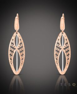 TELTI GOLD DANGLE EARRINGS