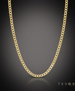 Tesoro Vasto 4mm Yellow Gold Necklace 50cm