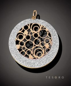 Suzzara Rose Coated Silver Pendant