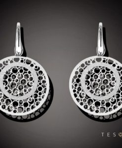 URGNANO SILVER DANGLE EARRINGS