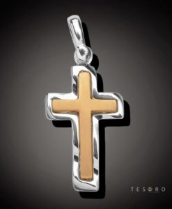 9 Carat BISCEGLIE Gold Cross
