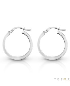 Alzano White Gold Hoop Earring 15mm