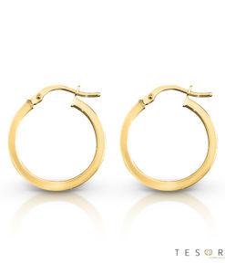 Tesoro Alzano Gold Hoop Earrings 20mm
