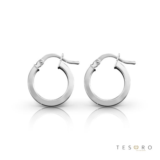 Alzano White Gold Hoop Earrings 10mm