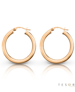 Aosta Gold Hoop Earrings 20mm