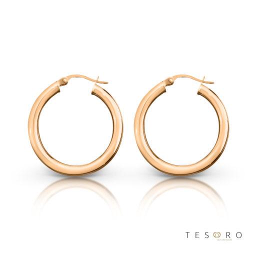 Aosta Gold Hoop Earrings 20mm