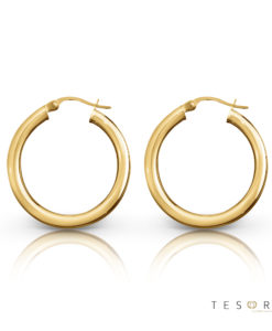 Aosta Gold Hoop Earrings 25mm