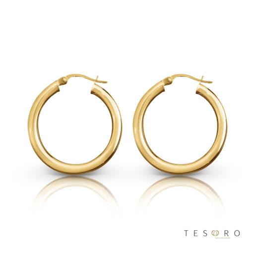 Aosta Gold Hoop Earrings 25mm
