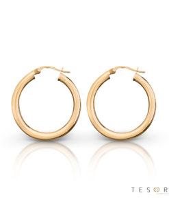 Aosta Rose Gold Hoop Earrings 15mm