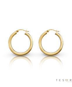 Aosta Gold Hoop Earrings 10mm