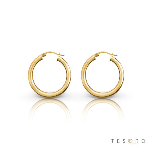 Aosta Gold Hoop Earrings 10mm