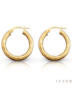 Udine Gold Hoop Earring 20mm