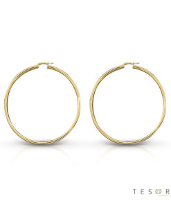 Celestine Gold Hoop Earrings 30mm