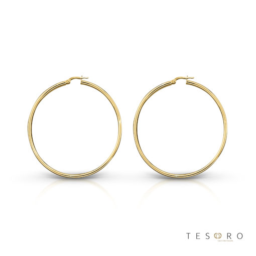 Celestine Gold Hoop Earrings 30mm