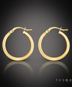 Tesoro Alzano Square Tube Hoop Earring 20mm