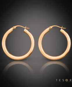 Tesoro Aosta Rose Gold Hoop Earrings 20mm