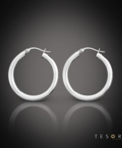Aosta Gold Hoop Earrings 15mm
