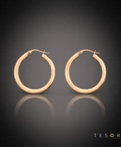 Aosta Rose Gold Hoop Earrings 10mm