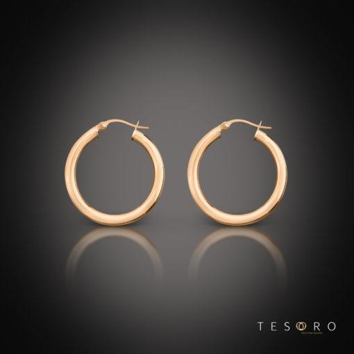 Aosta Rose Gold Hoop Earrings 10mm