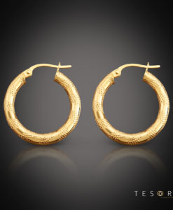 Tesoro Udine Gold Hoop Earring 20mm