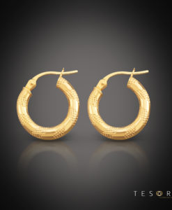 Udine Gold Hoop Earring 15mm