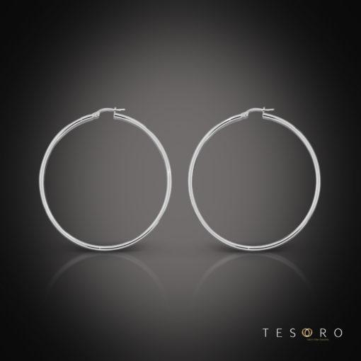 Celestine White Gold Hoop Earring 40mm