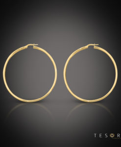 Celestine Gold Hoop Earrings 25mm