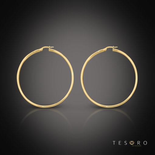 Celestine Gold Hoop Earrings 25mm