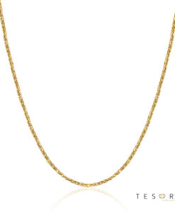 Cascina Yellow Gold Diamond Cut Wheat Link Chain 0.8mm