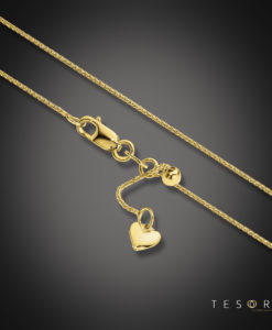Tesoro Bosco Yellow Gold Extender Chain 90cm