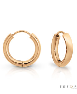 Tesoro Atrani Rose Gold Huggie Earrings