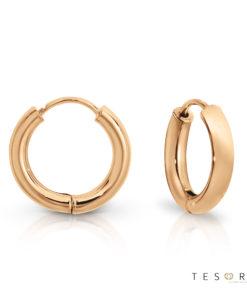 Tesoro Atrani Rose Gold Huggie Earrings